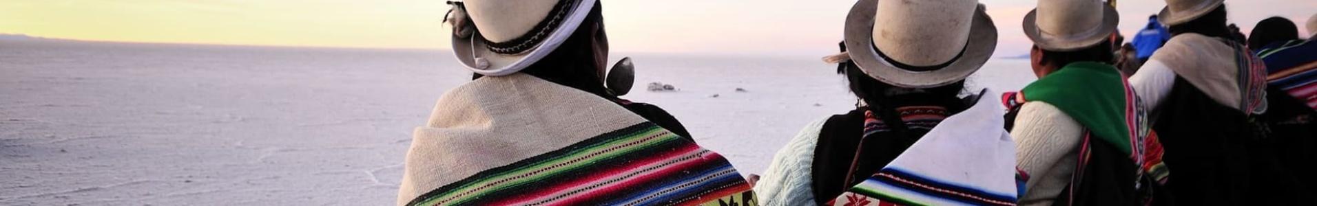 Cholitas au Salar d'Uyuni
