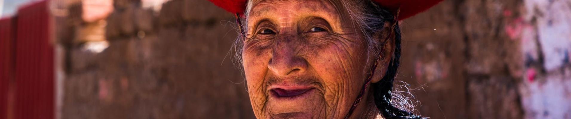 Bolivienne qui sourit