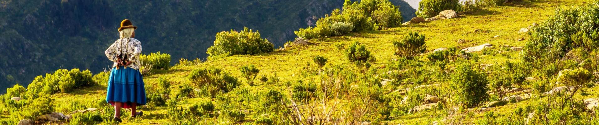 Lac titicaca et Cholitas