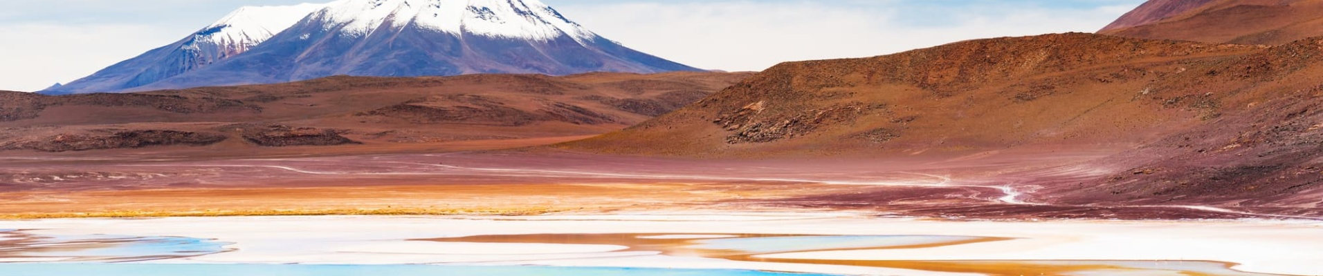 Volcan et lagune du Sud Lipez - Bolivie