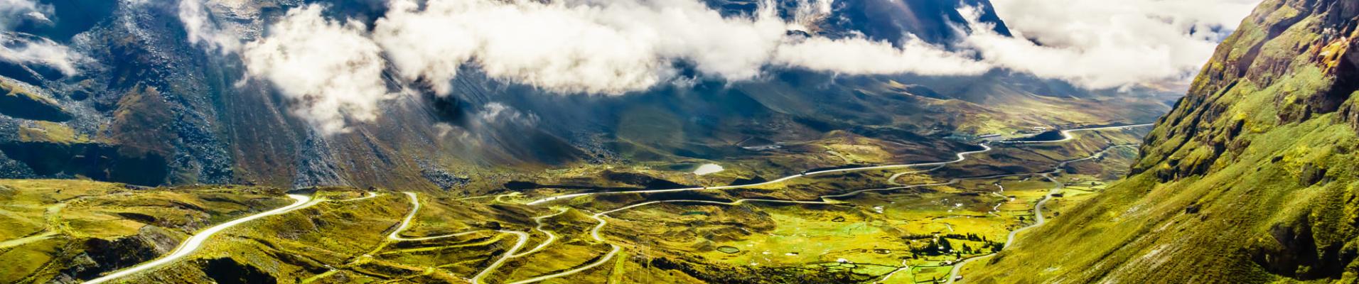 Vue de la route de la mort - Bolivie